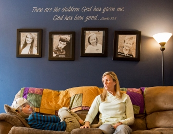 Shelley Gillen sits with her oldest son Will on the living room couch at their home in Bellevue. Will, 12, suffers from Lennox-Gastaut syndrome, a severe form of epilepsy resulting in various types of seizures multiple times in a single day. In an effort to legalize the medical use in Nebraska, Will's parents are trying to educate legislators on the benefits of hemp oil extract as treatment for their son's condition. KRISTIN STREFF/Lincoln Journal Star