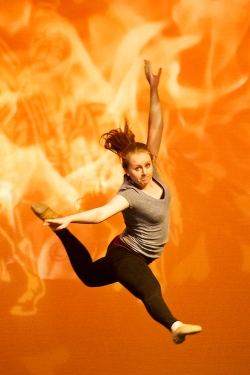 Neil Piper rehearses her dance for the 60th annual Nite of Knights performance on stage at the Lincoln Southeast High School performing arts center. KRISTIN STREFF/Lincoln Journal Star