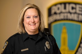 Lincoln police officer Melissa Ripley smiles for a portrait at the Hall of Justice. KRISTIN STREFF, Journal Star