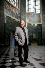 Nebraska Association of Public Employees executive director Mike Marvin, who plans to retire at the close of the current legislative session, stands for a portrait at the Capitol. KRISTIN STREFF, Journal Star