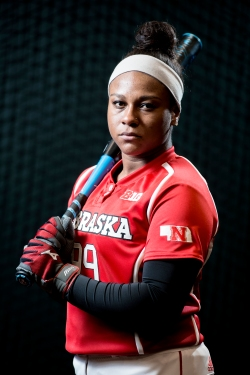Nebraska softball player MJ Knighten poses for a portrait at the Alex Gordon Complex. KRISTIN STREFF, Journal Star